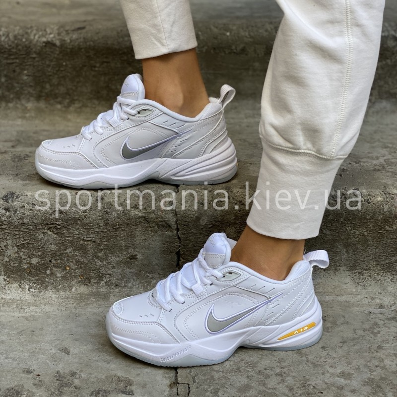 Nike air monarch IV white yellow